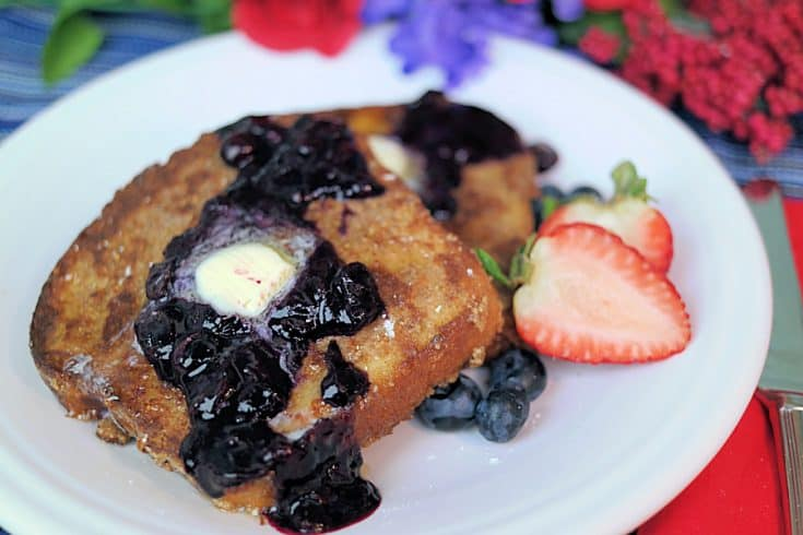 Pecan French Toast & Blueberry Compote