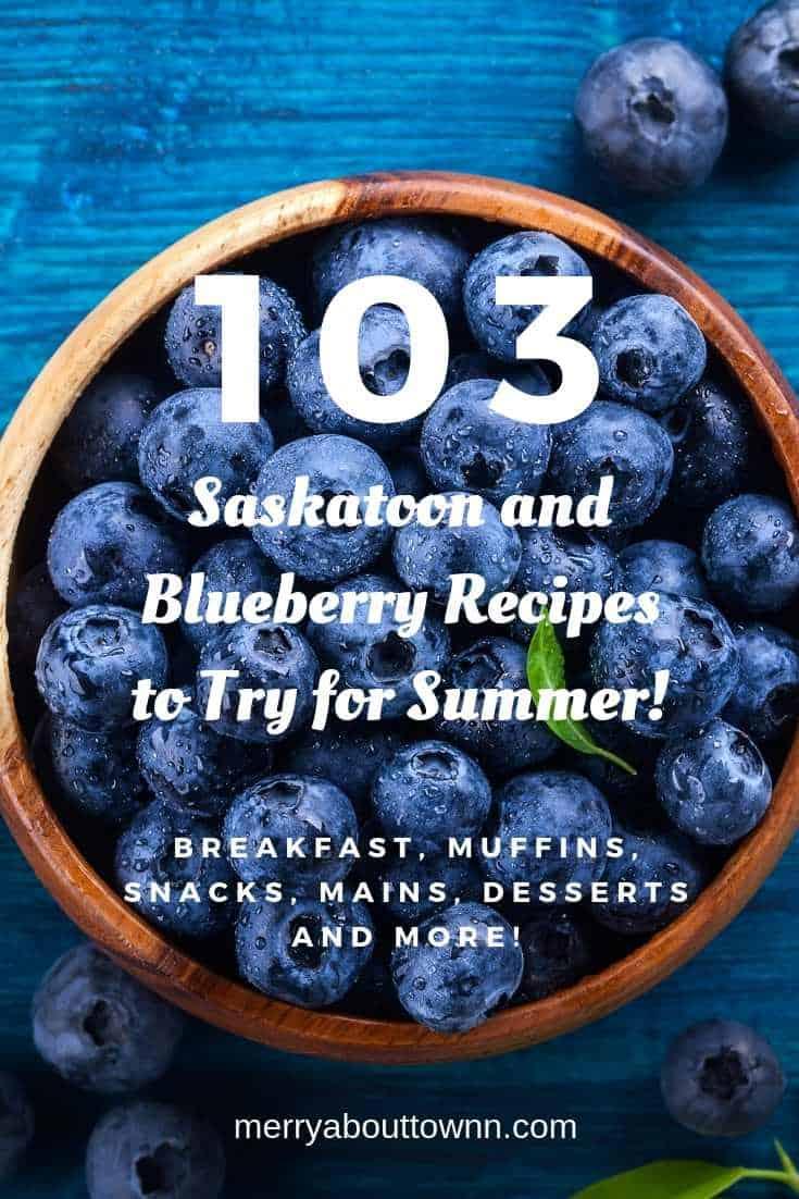 Saskatoon and blueberry recipes