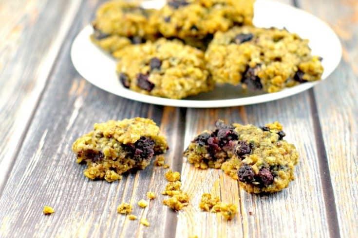 Saskatoon Berry (Juneberry) Oatmeal Cookies