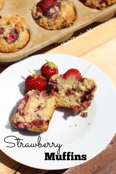 Sinful Strawberry Muffins
