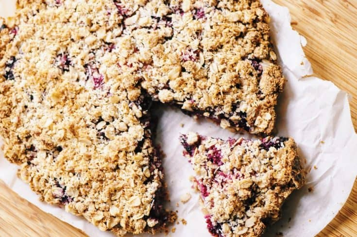 Triple Berry Crumble Pie with Almond Coconut Oat Crust (Gluten-Free, Vegan)