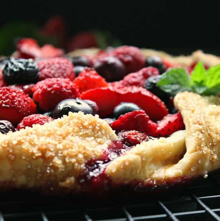 10 Minute Summer Berry Galette ~ easy rustic 3 berry pie ~ A Gouda Life