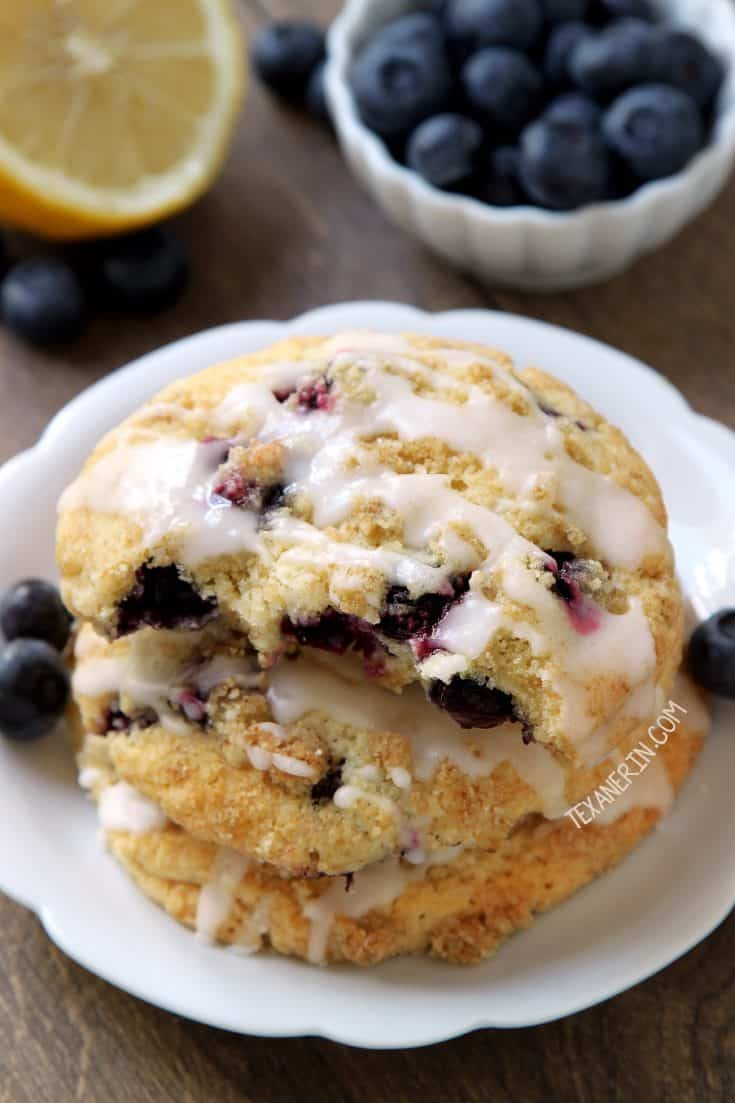Blueberry Cookies (gluten-free, whole wheat, all-purpose flour options)