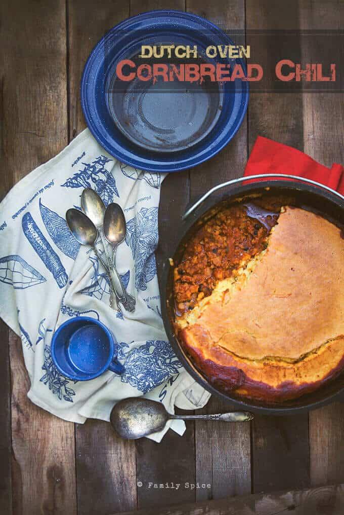 Campfire Dutch Oven Chili with Cornbread