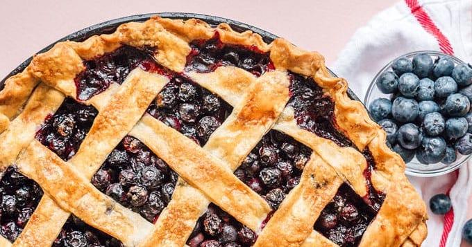 OMG - FRESH Blueberry Pie!