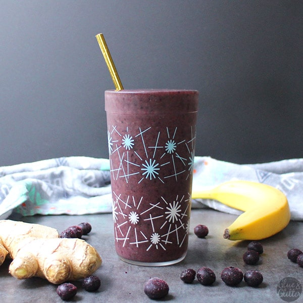 Ginger Blueberry Smoothie with Sneaky Greens