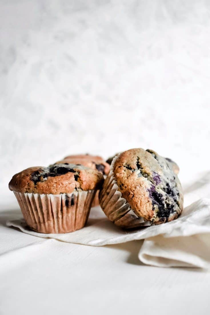 Bakery-Style Blueberry Muffins (vegan, eggless)