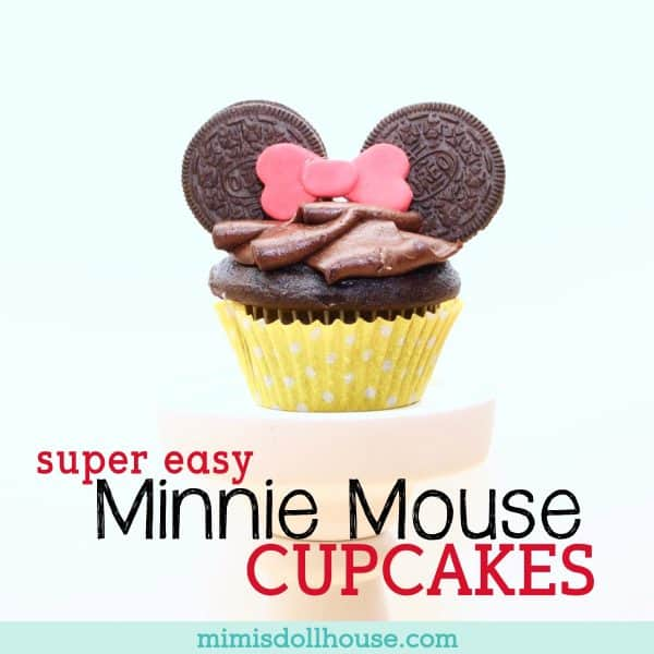 Minnie Mouse Party: Super Easy Minnie Mouse Cupcakes