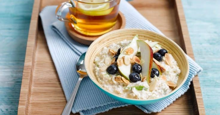 Pear and Blueberry Overnight Oats