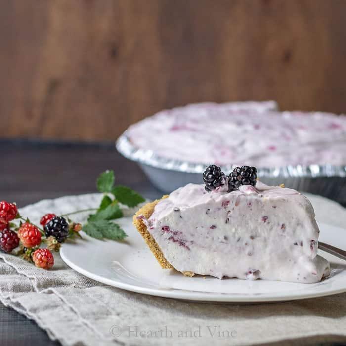 Wild Black Raspberry Ice Cream Pie - Simple and Delicious