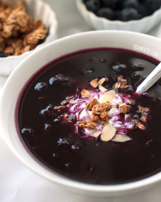 Healthier Swedish Blueberry Soup (vegan, gluten-free, dairy-free)