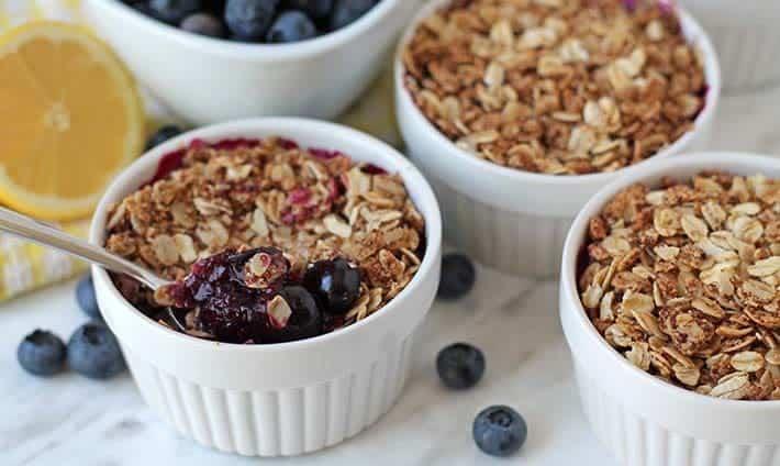 Easy Gluten-Free Blueberry Crisp
