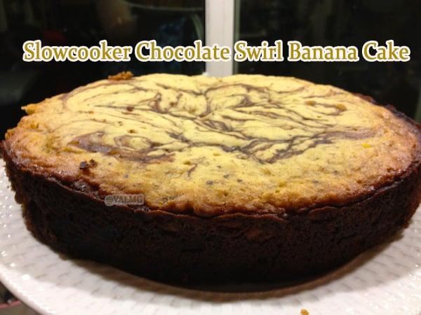 Slowcooker Chocolate Swirl Banana Cake