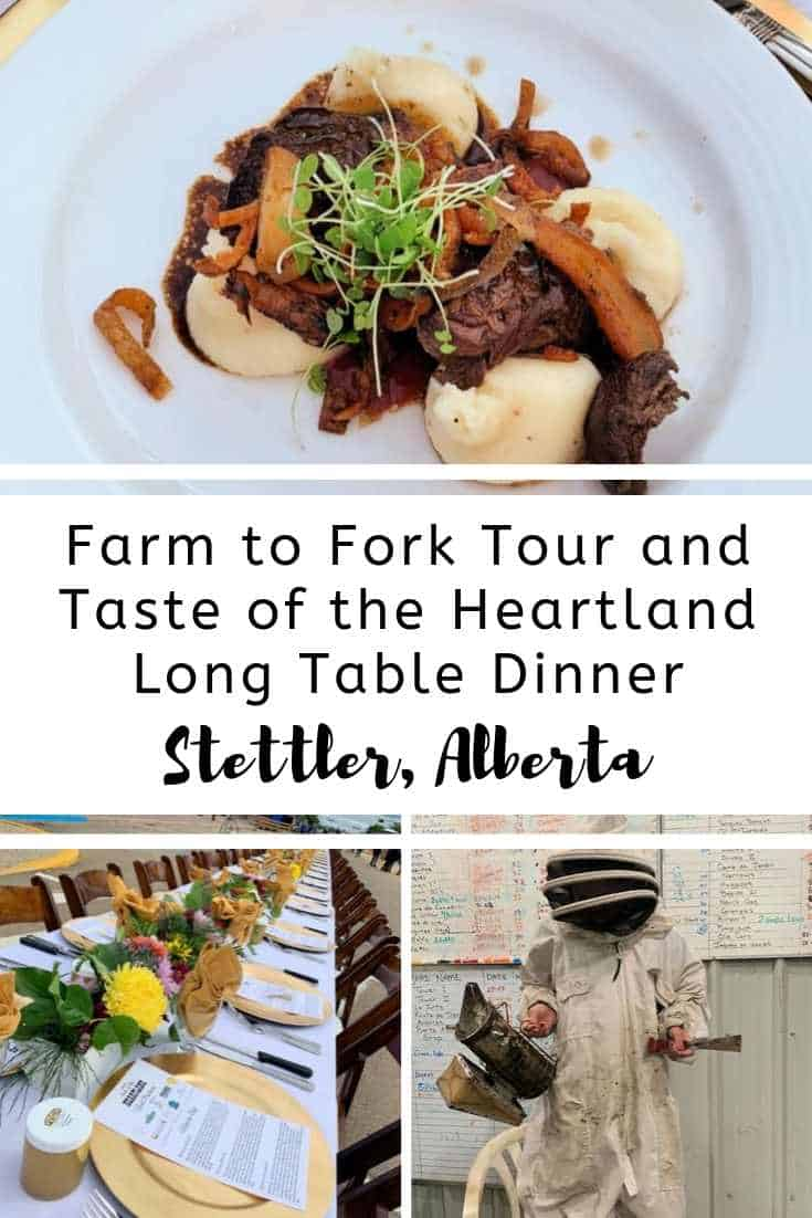 Farm to Fork Tour and Taste of the Heartland Long Table Dinner in Stettler, Alberta