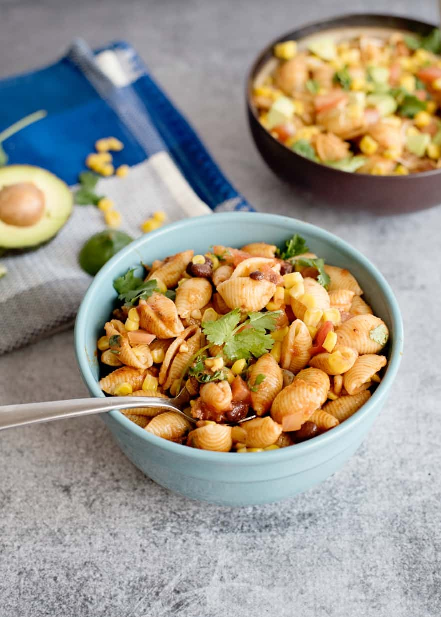 Mexican Pasta Salad is a hearty delicious side dish