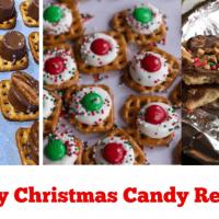 3 Easy Christmas Candy Recipes (Fools Toffee & Pretzel Treats)