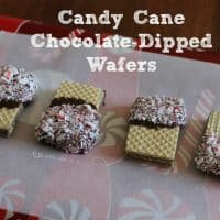 Candy Cane Chocolate-Dipped Wafers
