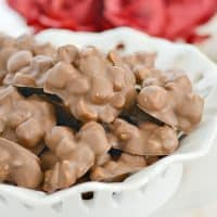 Chocolate Peanut Clusters with Marshmallows