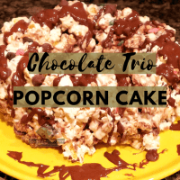 Chocolate Trio Popcorn Cake