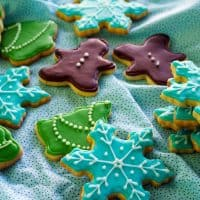 Frosted Brown Butter Citrus Shortbread Cookies