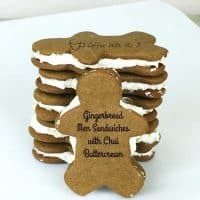 Gingerbread Men Sandwiches with Chai Buttercream
