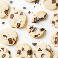 Super Famous Salted Butter Chocolate Chunk Shortbread Cookies | Glitter, Inc.