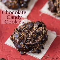 No Bake Chocolate Candy Cookies