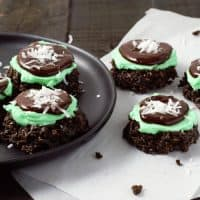 Mint Chocolate No-bake Cookies Small Batch Recipe