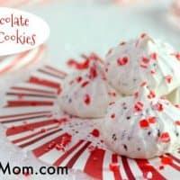 Mint Chocolate Meringue Cookies