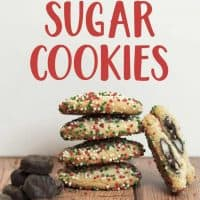 Mint Surprise Sugar Cookies with York Peppermint Patties