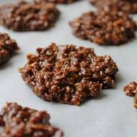 No Bake Chocolate Coconut Oil Cookies -The Honour System