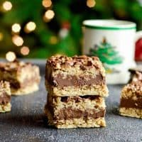 No-Bake Chocolate Peanut Butter Oatmeal Bars (gluten-free)