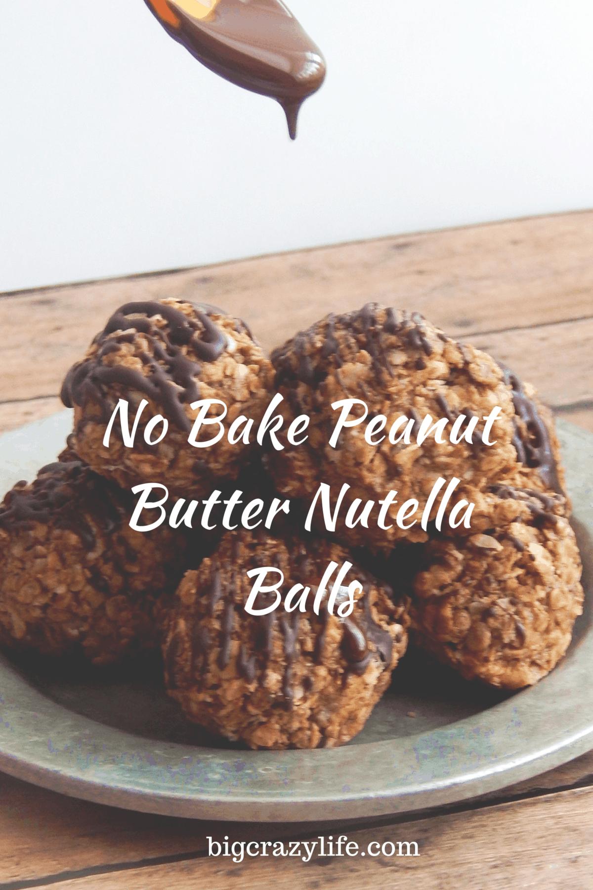 No bake peanut butter Nutella balls