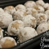 No Bake Pecan Praline Bourbon Balls Recipe
