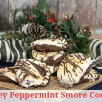 Gooey Peppermint Smore Cookies #Recipe
