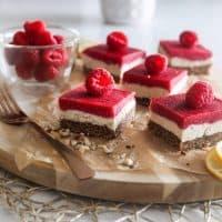 Raspberry Vegan Bars | No-Refined Sugar Recipe