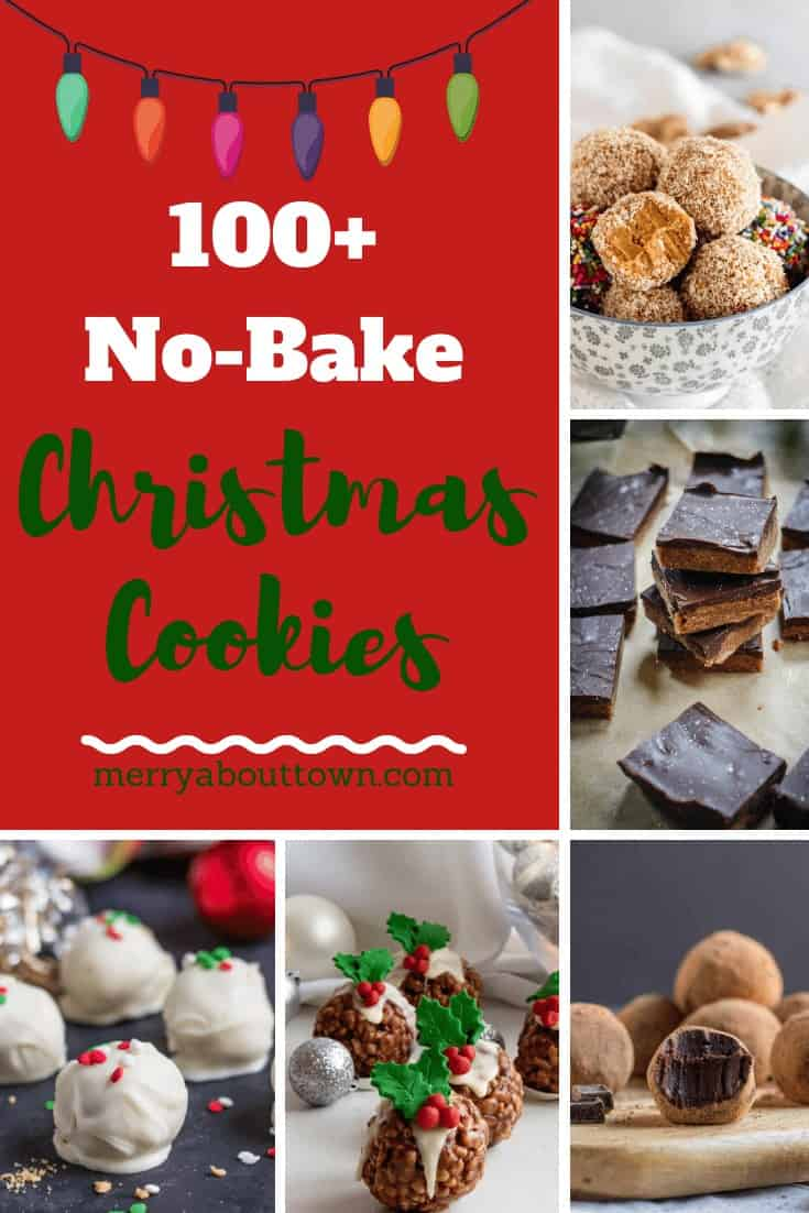 100+ No Bake Christmas Cookies