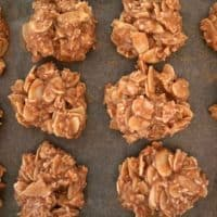 Easy No Bake Peanut Butter Cookies