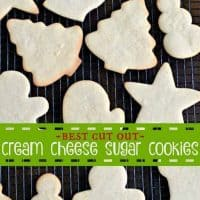 Cream Cheese Sugar Cookies with Vanilla Bean Frosting