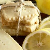 Lemon Shortbread Cookies-Genius Cookie Hack