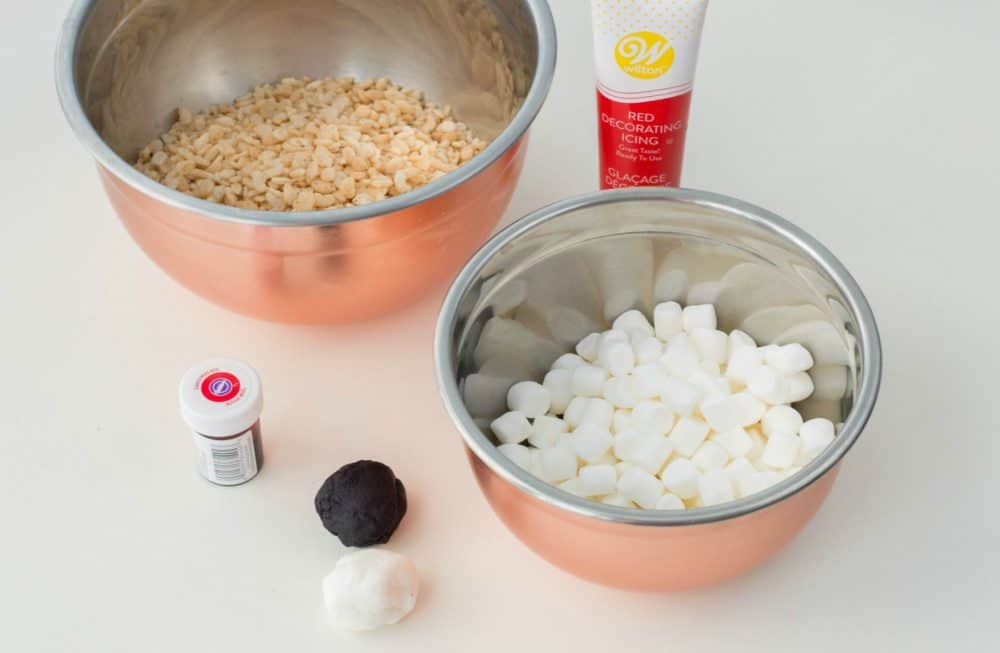 Ingredients for Pokeball Inspired Cereal Treats Recipe