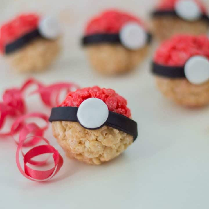 These Pokeball inspired treats are perfect for the Pokemon fan.