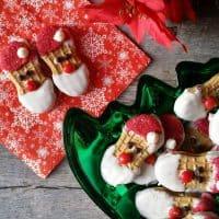 Easy No Bake Santa Cookies