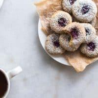 Whole Grain Spelt and Sesame Thumbprint Cookies