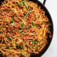 Pasta with Meat Sauce (Gluten-Free, Dairy-Free, Sugar-Free)