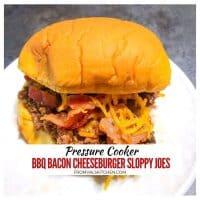 Pressure Cooker BBQ Bacon Cheeseburger Sloppy Joes Recipe
