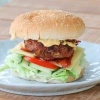 Grilled Beef& Bacon Burgers