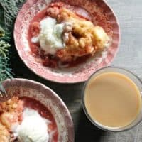 Cranberry Apple Cobbler in the Slow Cooker (A sweet Christmas morning or potluck recipe)