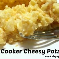 Slow Cooker Cheesy Potatoes - An Easy to Make Holiday Side Dish