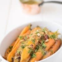 Crockpot Orange, Honey and Herb Glazed Carrots